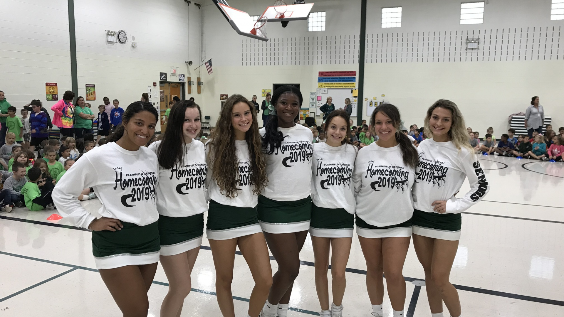 PHS-CC Cheerleaders Join Central's Pep Rally