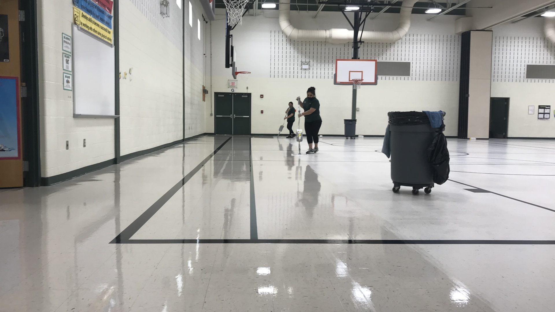 slidshow image - Central School's Gym Freshly Waxed - Summer 2020 -