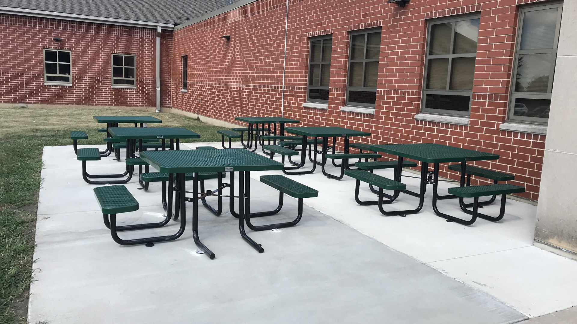 slidshow image - Thank You to our PTO for our School Gift - We finished the Seating for our Outdoor Classroom! -