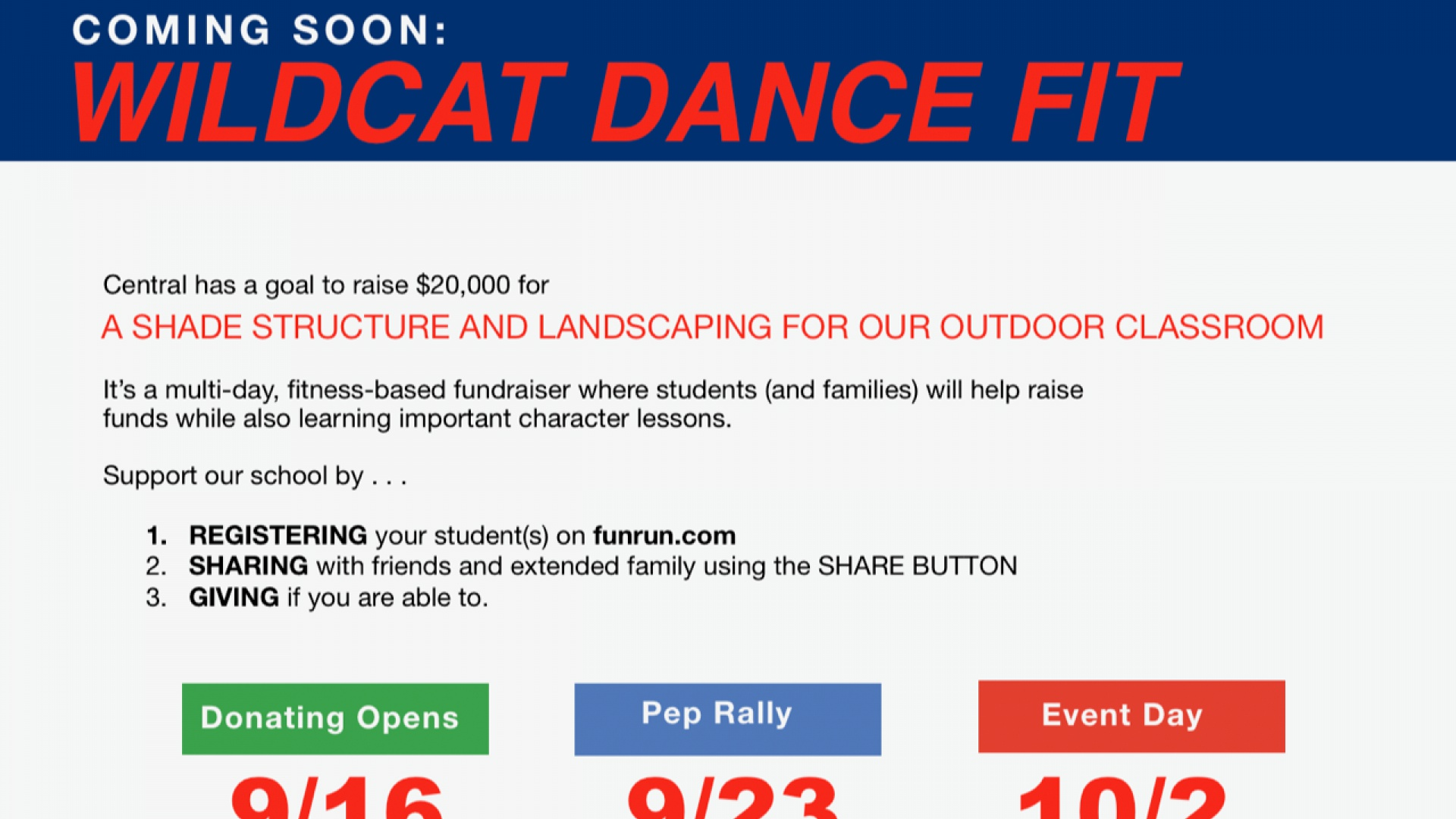 slidshow image - Wildcat Dance Fit (Boosterthon) Coming Soon! -