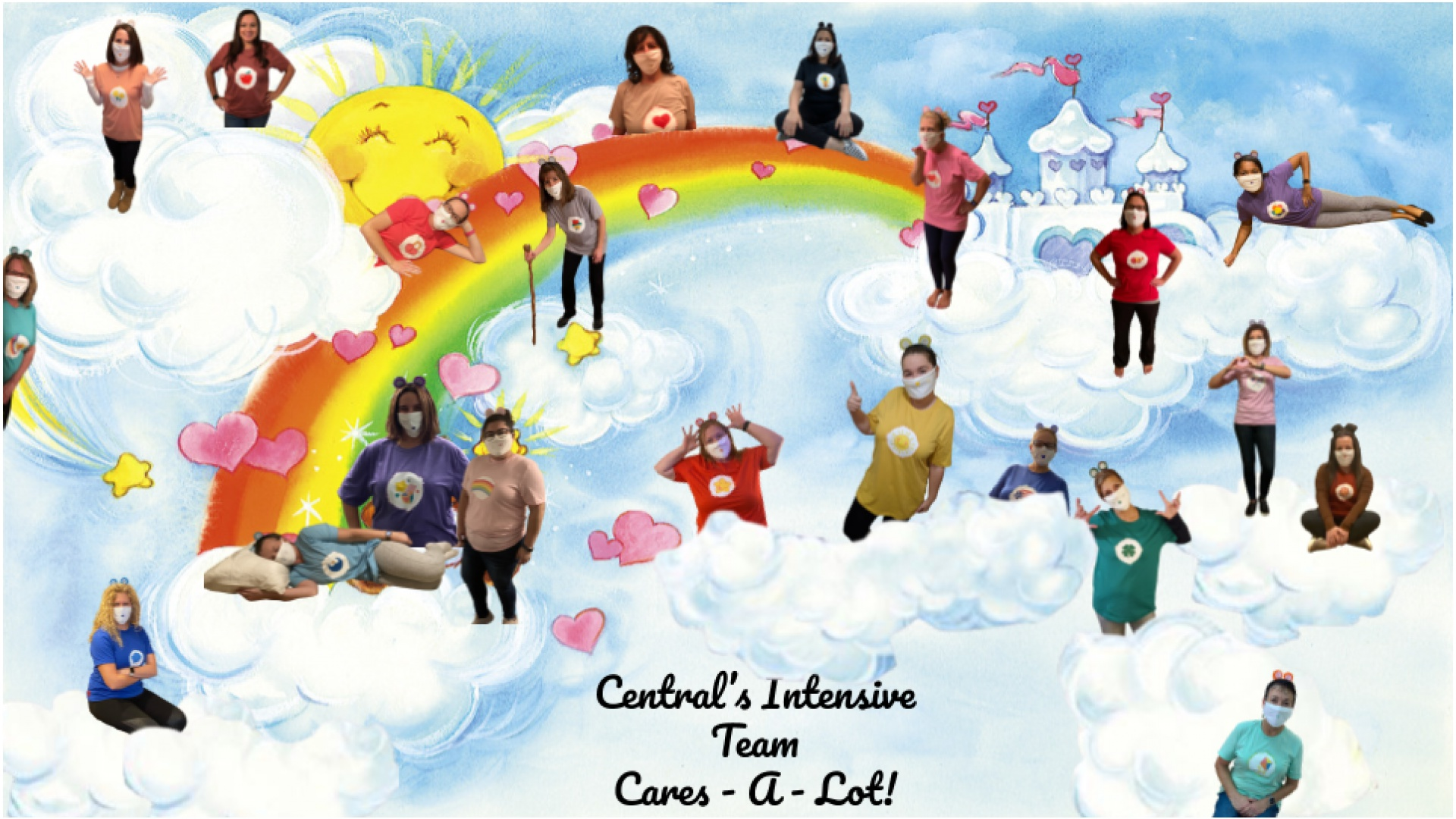 slidshow image - Halloween 2020 - Intensive team - Carebears -