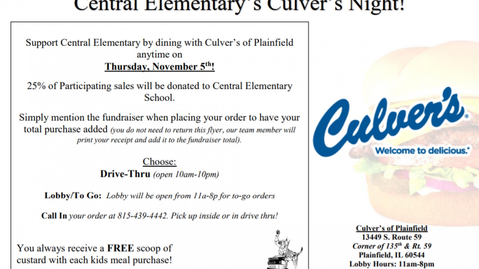 slidshow image - PTO Culver's Night -
